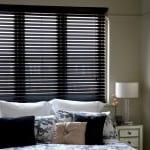 Black Wooden Venetian Blinds