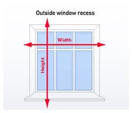 Cheapest blinds uk turquoise roller blind for Blinds outside recess
