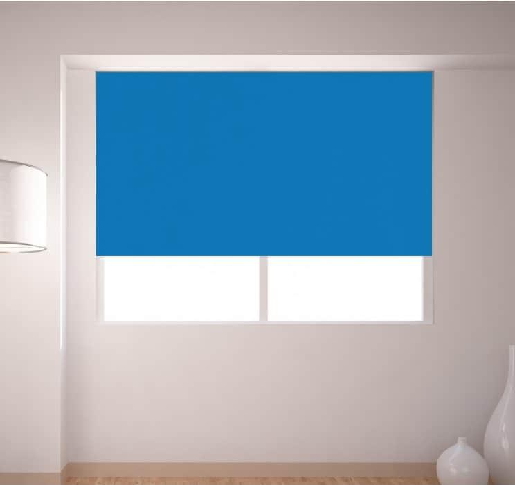 Cheapest Blinds Uk Bright Blue Roller Blind