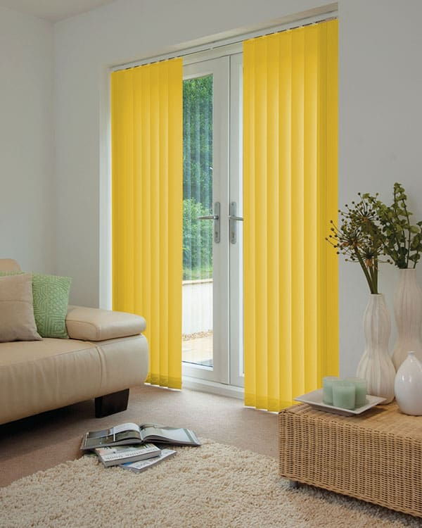 Cheapest Blinds Uk Bright Yellow Vertical Blinds