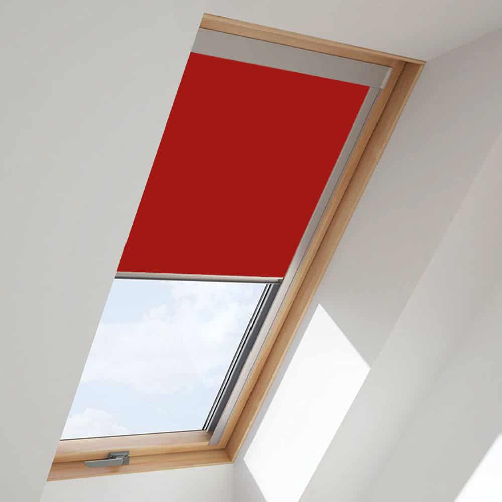 Cheapest Blinds Uk Red Fakro Roof Blind