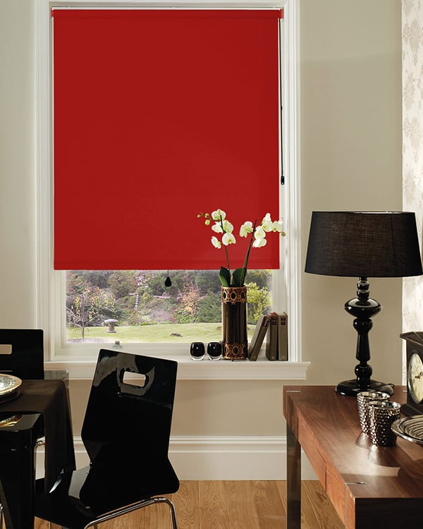 Cheapest Blinds Uk Ltd Red Blackout Roller Blind