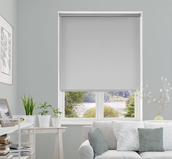 Cheapest Blinds Uk Ltd Light Dove Grey Blackout Roller Blind