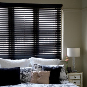 Black Wooden Venetian Blinds