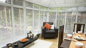 Solid Wood Venetian Blinds Bright White
