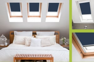 Blue Navy Roof Skylight Blinds