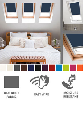 cheap blackout skylight roof blinds