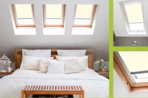 cream roof sky light blinds