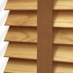 Light Oak Wood Venetian Blinds With Tapes