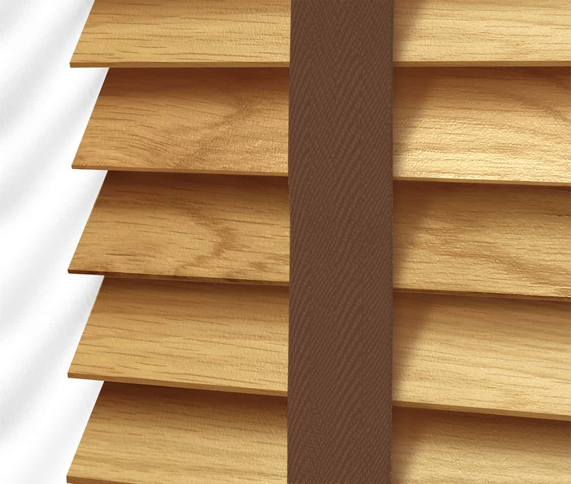 Cheapest blinds uk ltd light oak with tapes for Www timberblinds com