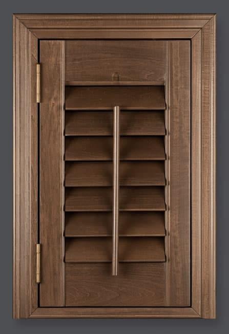 american walnut shutters