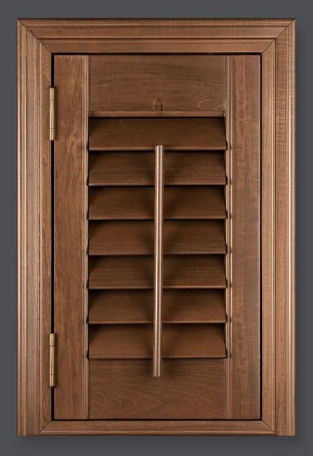 walnut shutters