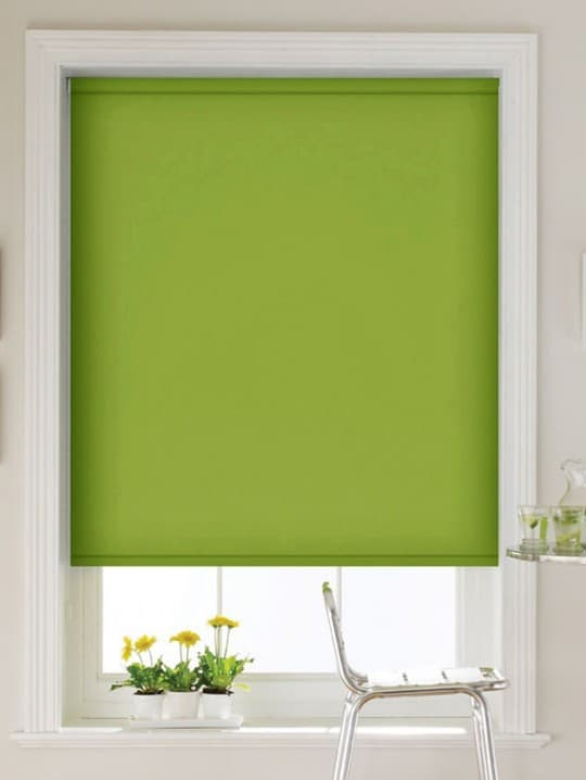 cheap green roller blind with dim out fabric