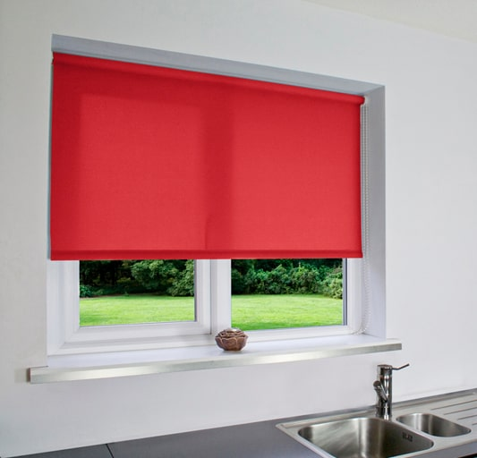 Bright Red Roller Blind Cheapest Blinds Uk Ltd