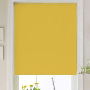 cheap yellow roller blind with dim out fabric