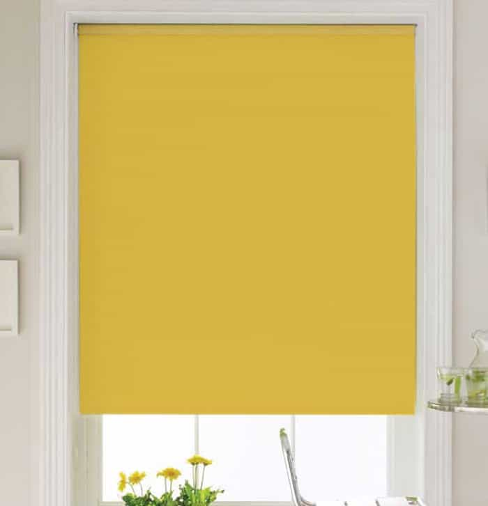Bright Yellow Roller Blind Cheapest Blinds Uk Ltd