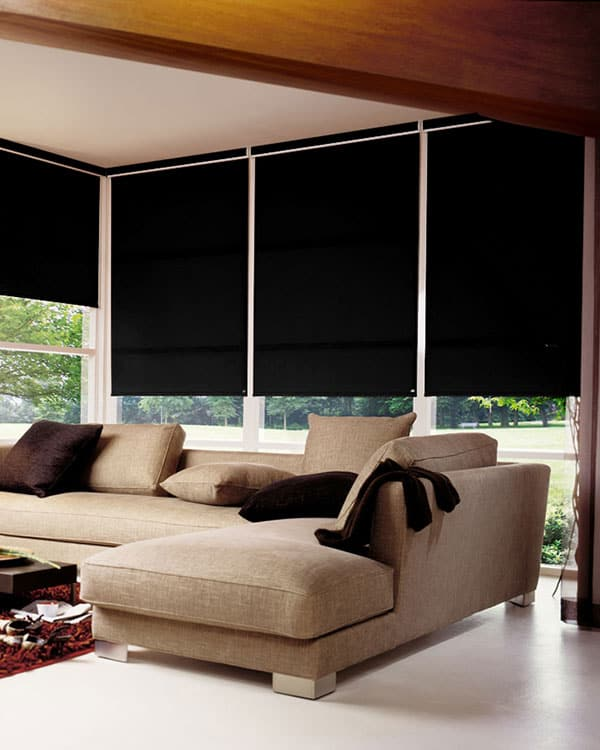 Black Roller Blind Cheapest Blinds Uk Ltd