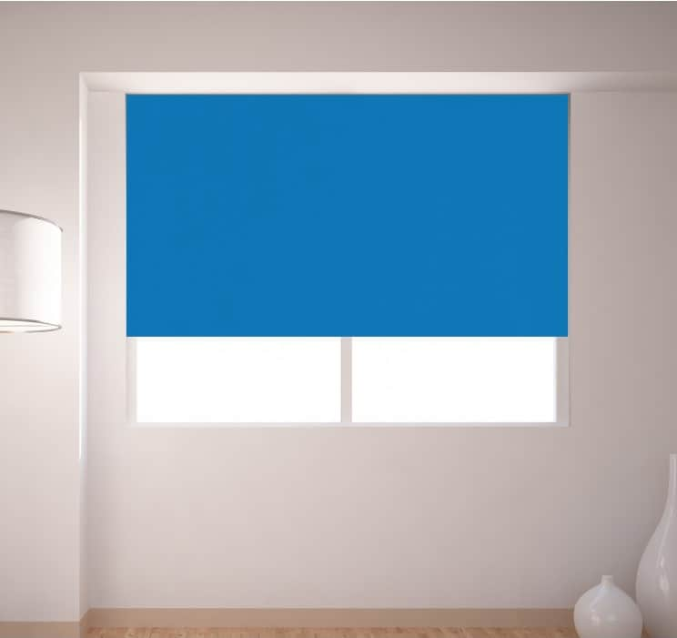 Bright Blue Roller Blind Cheapest Blinds Uk Ltd