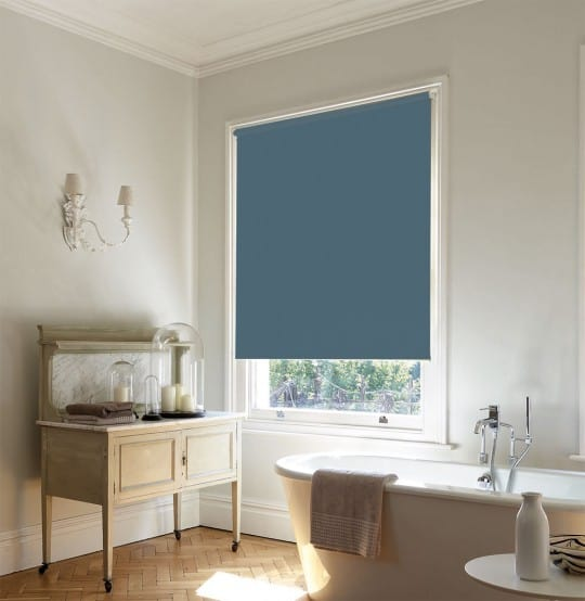 Dark Sage Green Roller Blind With Dim Out Fabric