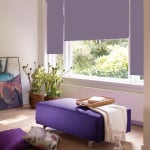 Dusky Purple Roller Blind with dim out fabric