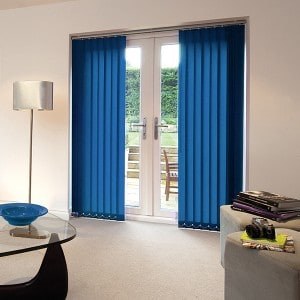 cheap bright blue vertical blinds