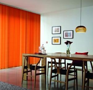 orange vertical blinds