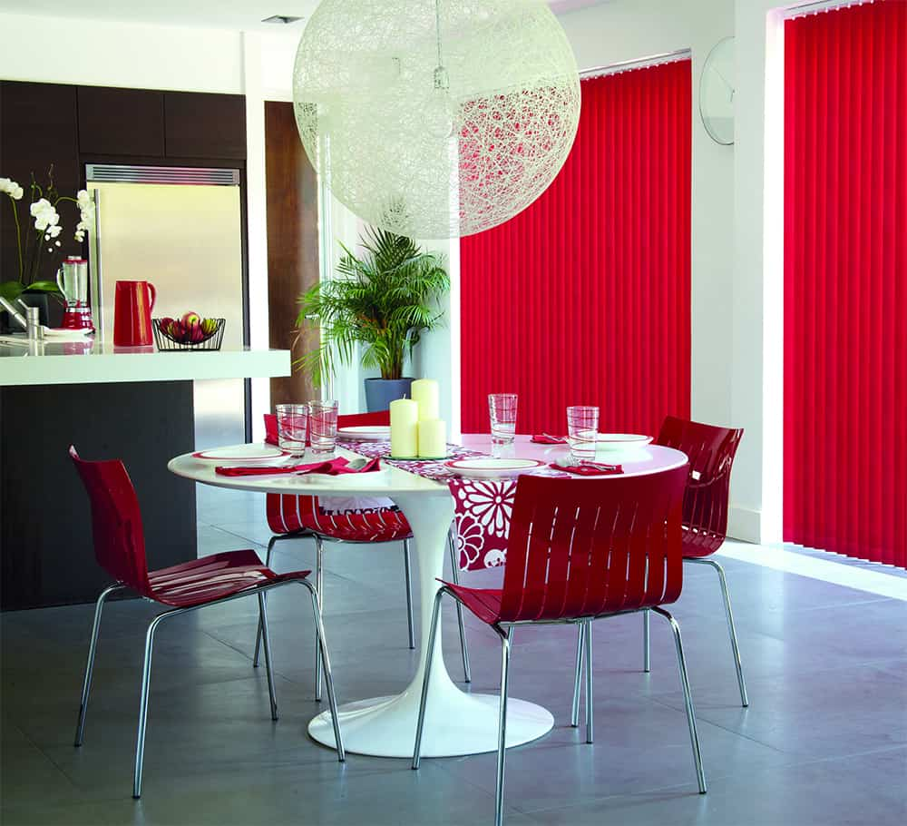 black blinds blackout glitter with blind roller red