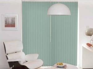 duck egg blue vertical blinds