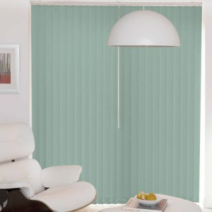 duck egg blue vertical blinds