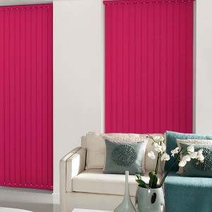 bright pink vertical blinds