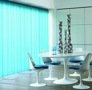Turquoise Vertical Blinds