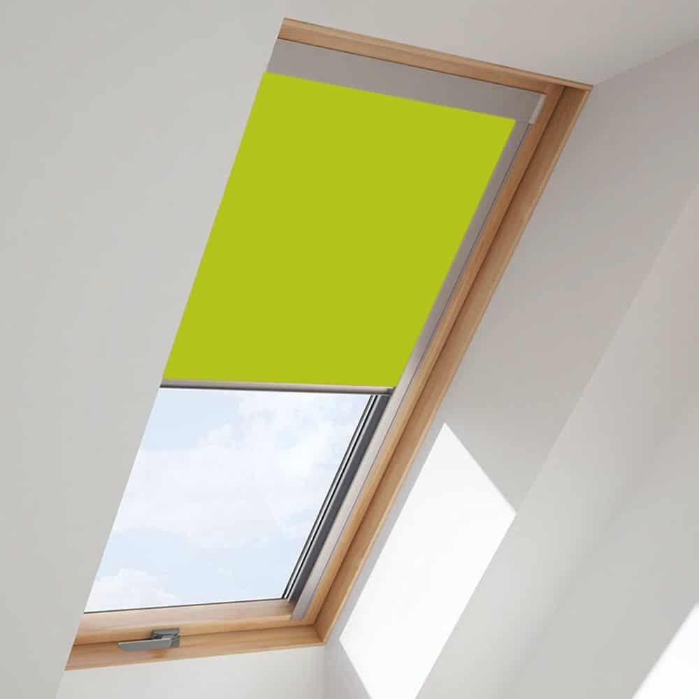 Bright Green Roof Skylight Blind For Velux Windows