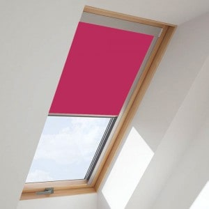 bright-pink-fakro-skylight-roof-blind