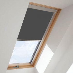grey VELUX roof blind