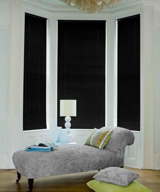 cheap black aluminium venetian blinds