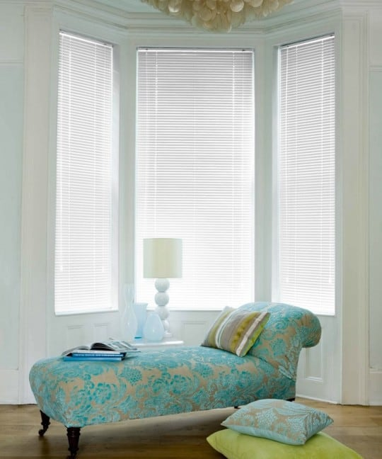 cheap bright white aluminium venetian blinds