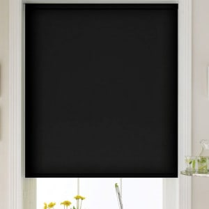 cheap black blackout roller blind