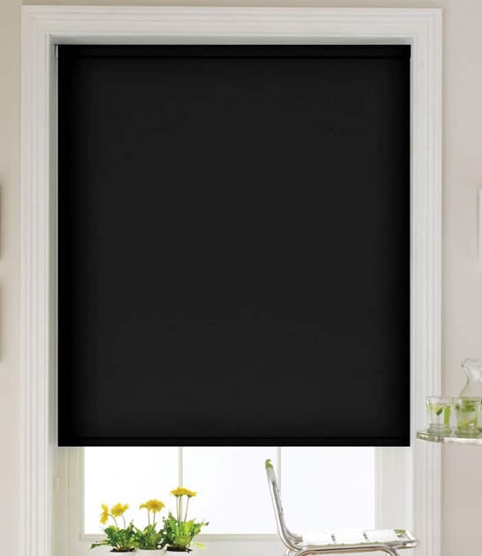 Cheapest Blinds Uk Ltd Black Blackout Roller Blind