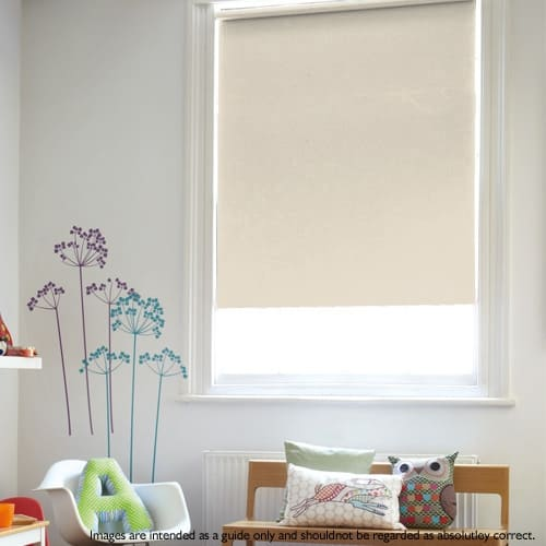beige roller blind blackout