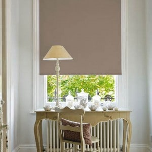taupe blackout roller blind