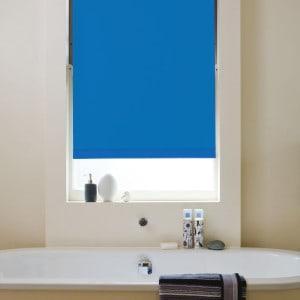 blue blackout roller blind