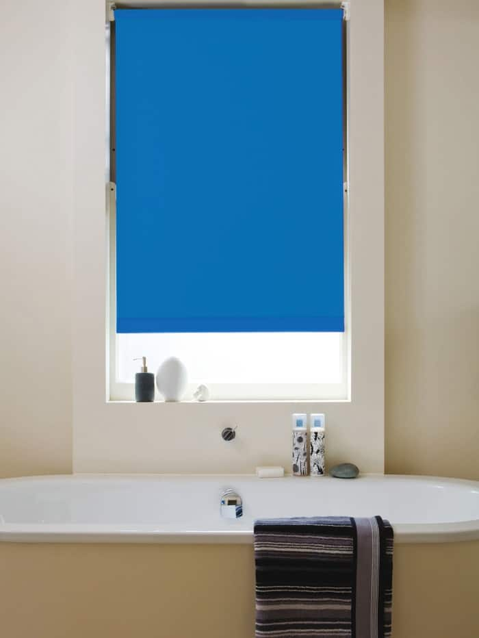 Bright Blue Blackout Roller Blind Cheapest Blinds Uk Ltd