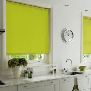lime green blackout roller blind