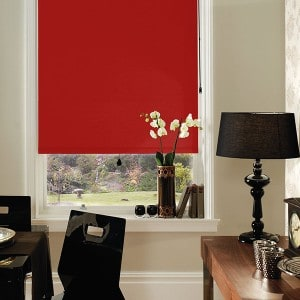 red blackout roller blind cheap