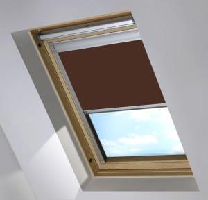 Brown Dakstra Skylight Roof Blind