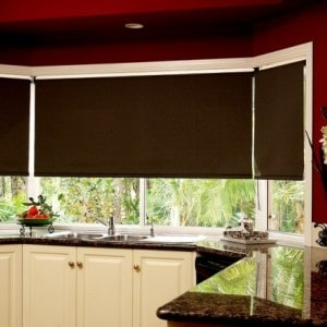 dark brown roller blind blackout fabric