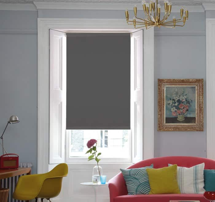 Grey Blackout Roller Blind Cheapest Blinds Uk Ltd
