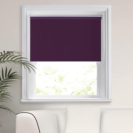 Purple Blackout Roller Blind Cheapest Blinds Uk Ltd