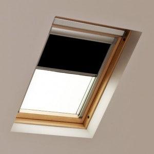Black LUCTIS Roof Skylight Blinds