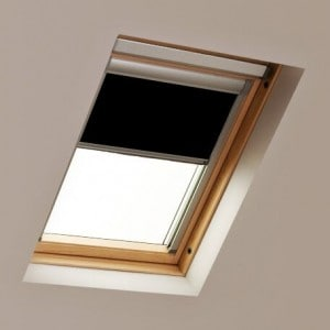 roto skylight roof blind black